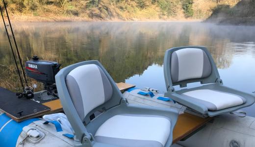 【バス釣行記】宮崎県・野尻湖で早春のゴムボート釣り! 初のボートの難しさを痛感。