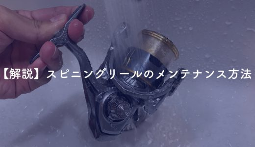 【解説】スピニングリール(ダイワ18フリームス)のメンテナンス方法