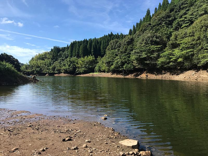 竹山ダムの橋脚エリア