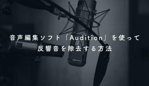 音声編集ソフト「Audition」を使ってエコー(残響音)を除去する方法